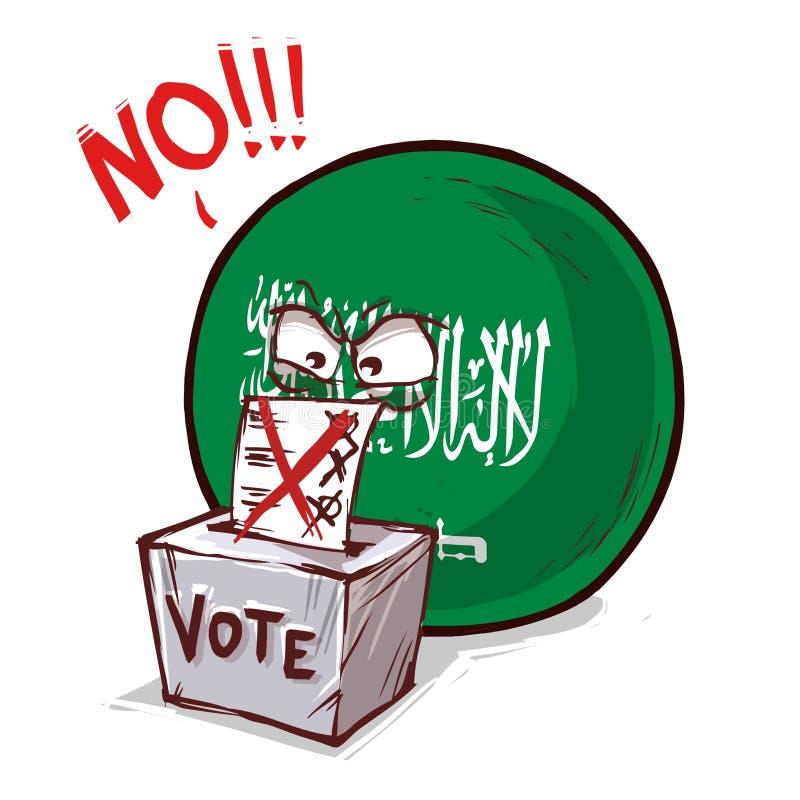 沙特阿拉伯投反对票国家的球 库存例证