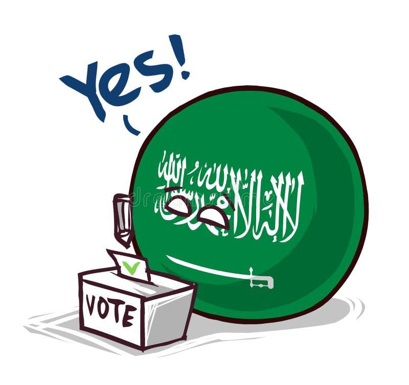 沙特阿拉伯投赞成票国家的球 库存例证