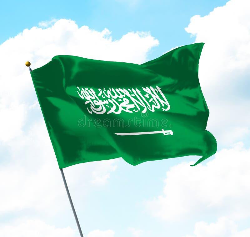 沙特阿拉伯王国的旗子 皇族释放例证