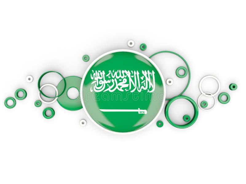 沙特阿拉伯的圆的旗子有圈子样式的 向量例证