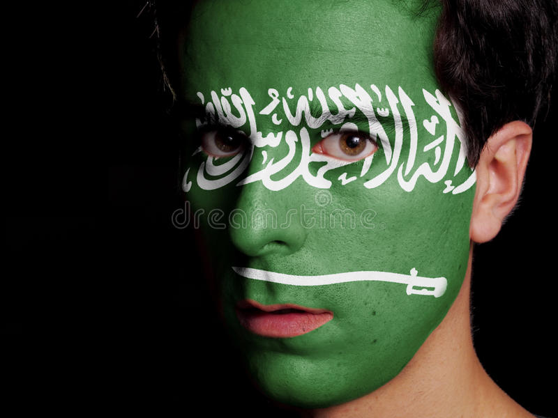 沙特阿拉伯的旗子 免版税库存照片