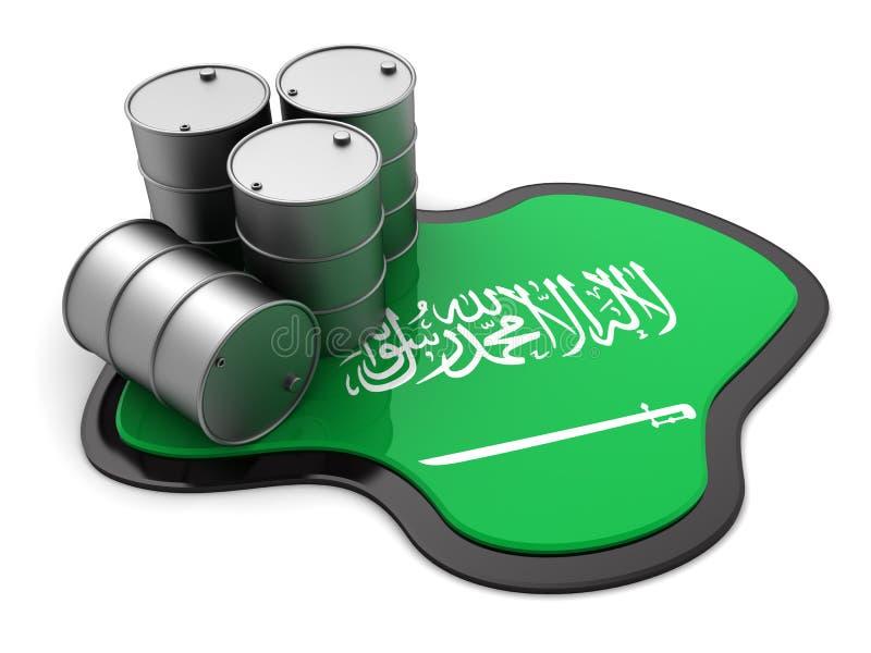 沙特阿拉伯石油 皇族释放例证