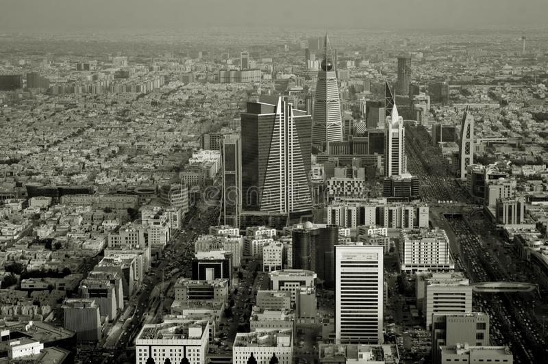 沙特阿拉伯 利雅得或Riad r 城市全景 库存图片