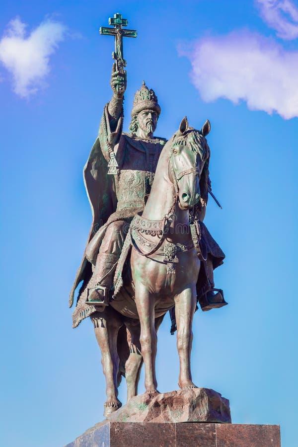 沙皇伊冯可怕的纪念碑在奥廖尔州 图库摄影