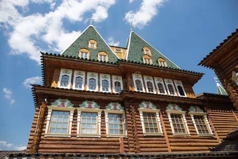 沙皇阿列克谢木宫殿我米哈伊洛维奇在Kolomenskoye, Mos 免版税图库摄影