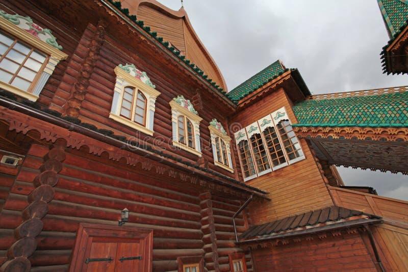 沙皇阿列克谢米哈伊洛维奇木宫殿在Kolomenskoye 库存照片