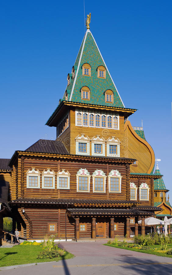 沙皇Alexey Mikhaliovich莫斯科Kolomenskoye宫殿  免版税库存照片