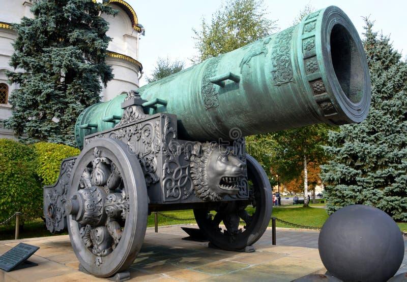 沙皇Pushka Cannon国王在克里姆林宫 库存照片