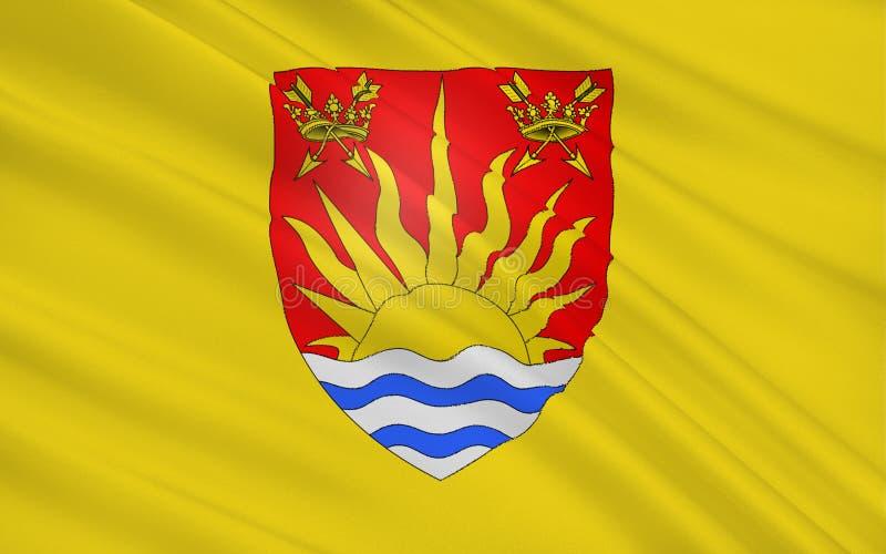 沙福克县,英国旗子  库存图片
