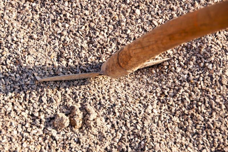 沙粒铁锹机智 库存图片