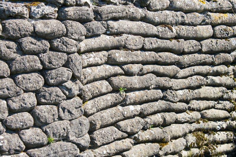 沙袋死亡富兰德比利时世界大战1沟槽  免版税库存照片