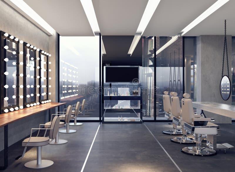 沙龙现代室内设计  库存图片