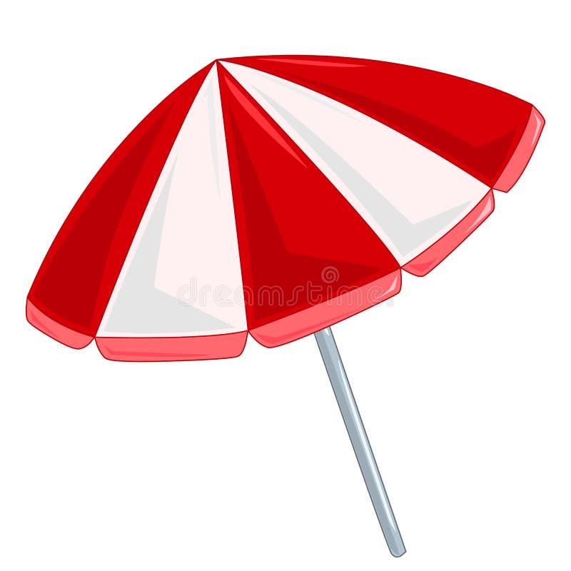 沙滩伞被隔绝的例证 库存例证