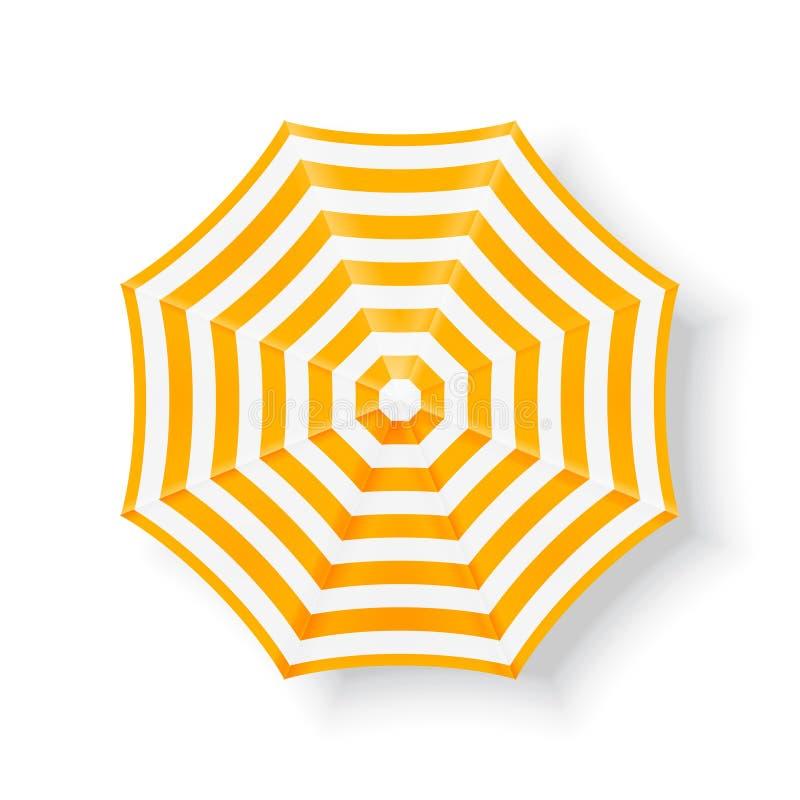 沙滩伞,顶视图 库存照片