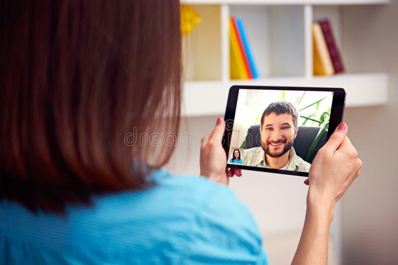 男人和妇女沟通 库存图片