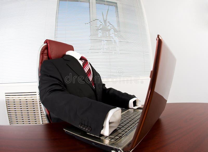 没人办公室 免版税库存照片