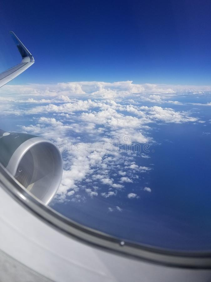没什么在飞机的翼 免版税库存照片