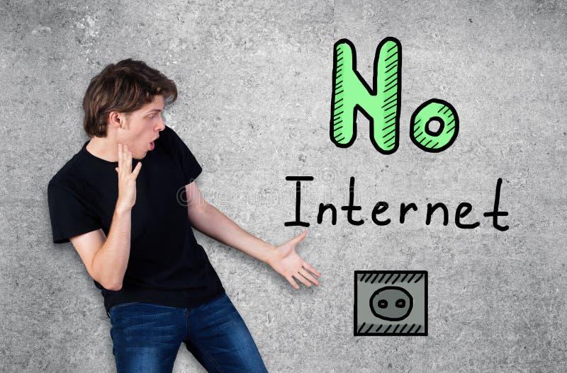 没有互联网的人 免版税库存照片