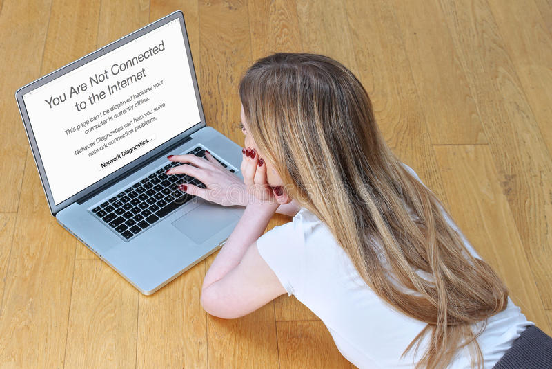 没有互联网连接 免版税库存照片