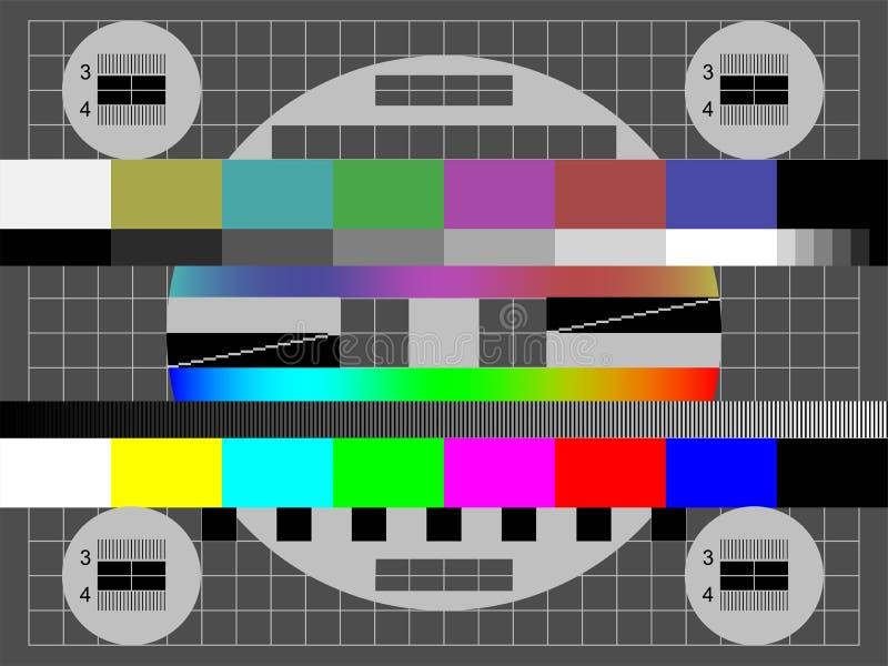 没有信号电视传染媒介颜色测试屏幕 库存例证