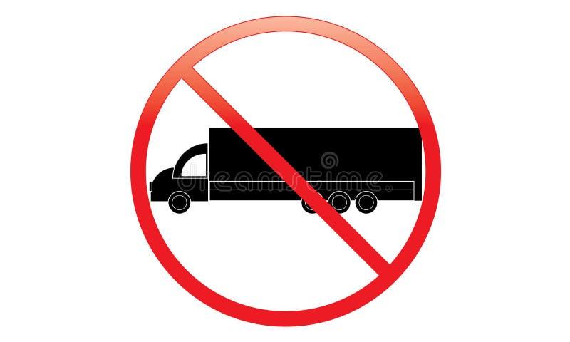 没有卡车象-禁止停车范Symbol -没有旅行的车-禁止停车卡车象,被隔绝 平的设计 皇族释放例证