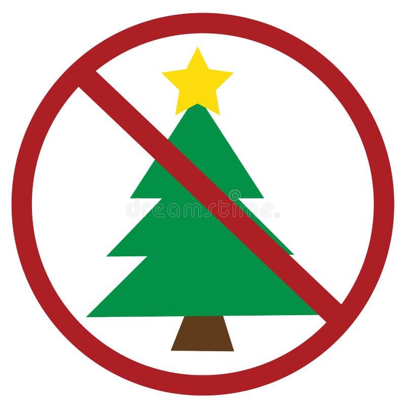 没有圣诞节 向量例证