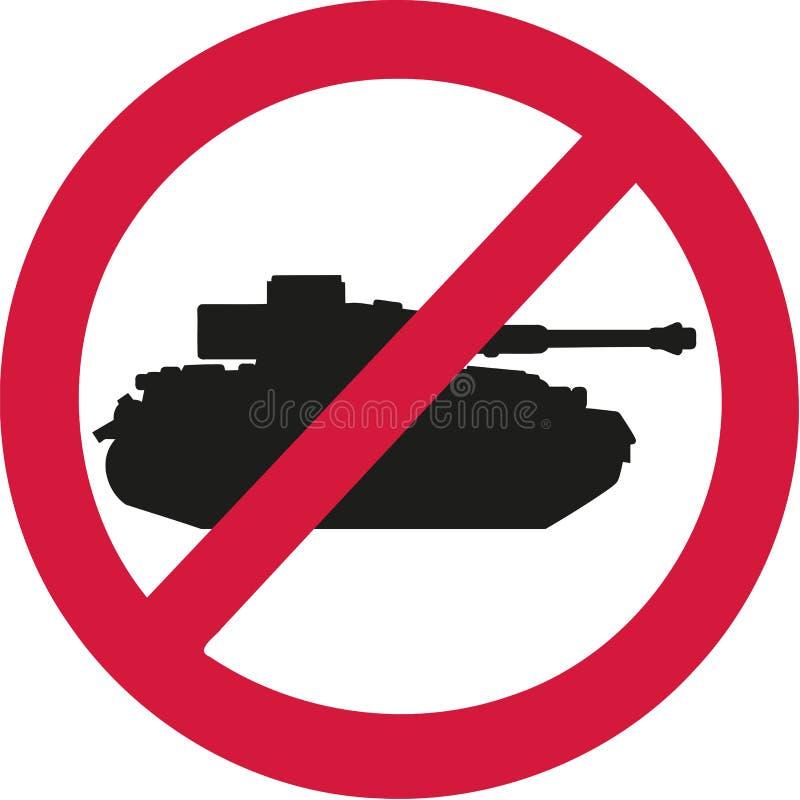 没有坦克禁令标志 库存例证