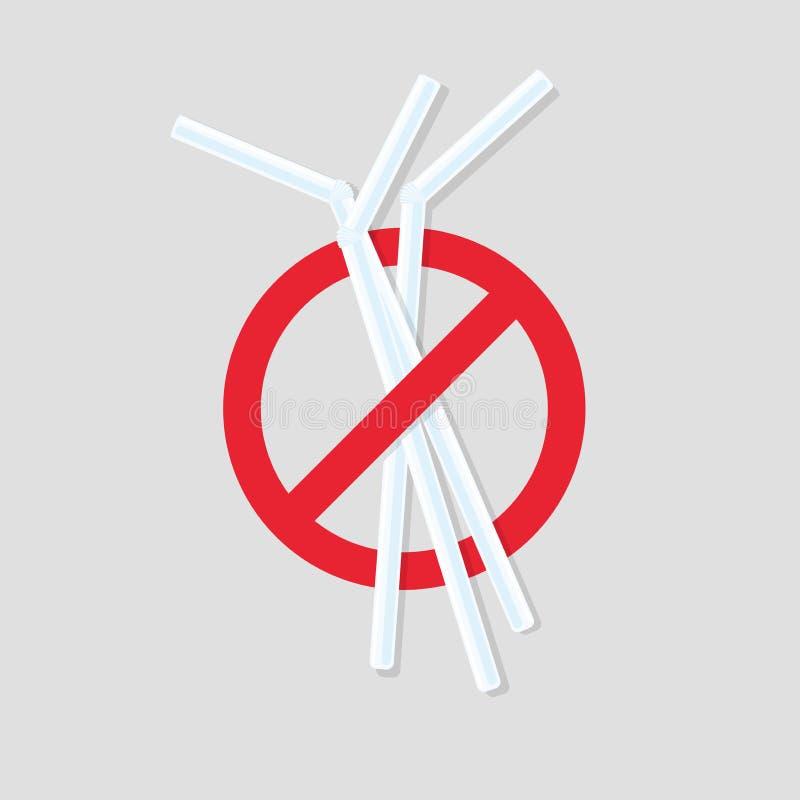 没有塑料秸杆象 皇族释放例证