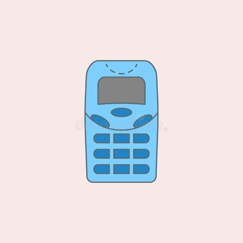 没有天线的一代给领域概述象打电话 一代象的元素流动概念和网apps的 领域概述ge 皇族释放例证