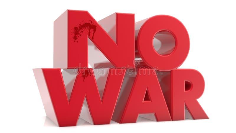 没有战争 库存例证
