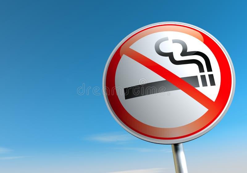 没有抽烟 向量例证