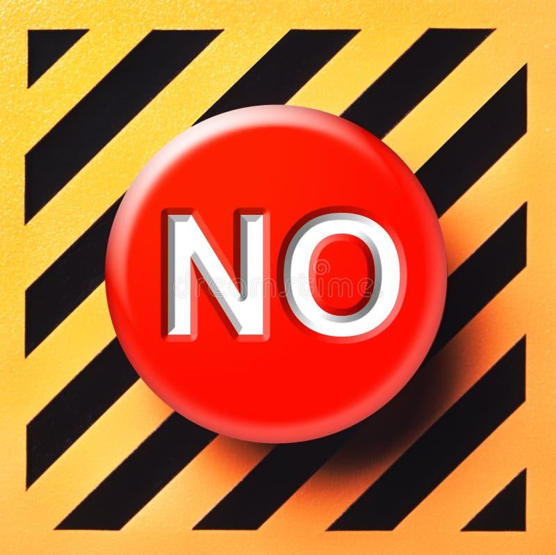 没有按钮例证 免版税库存图片