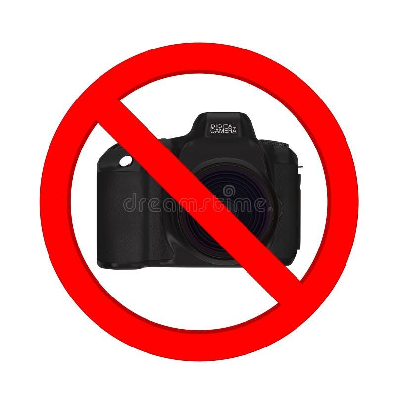 没有摄影允许的概念 数字式与Prohib的照片照相机 库存例证
