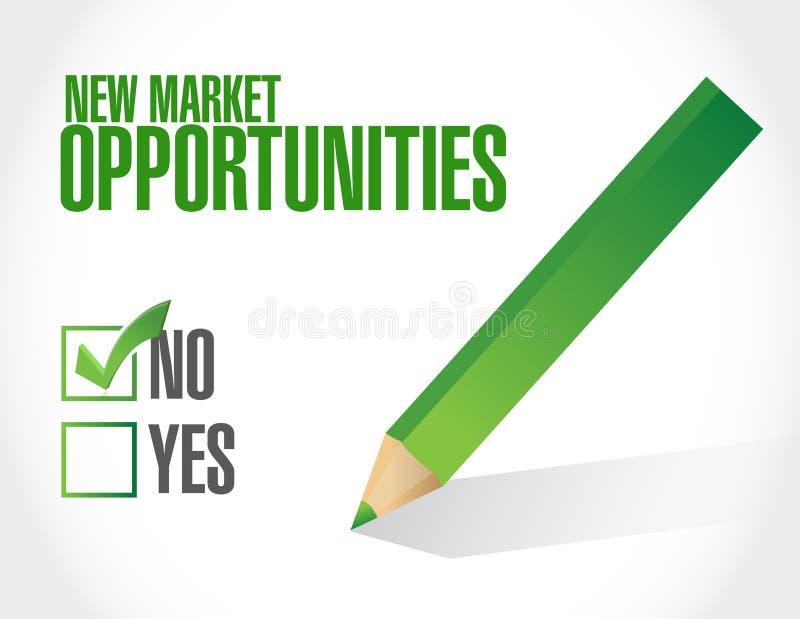 没有新市场机会标志概念 向量例证