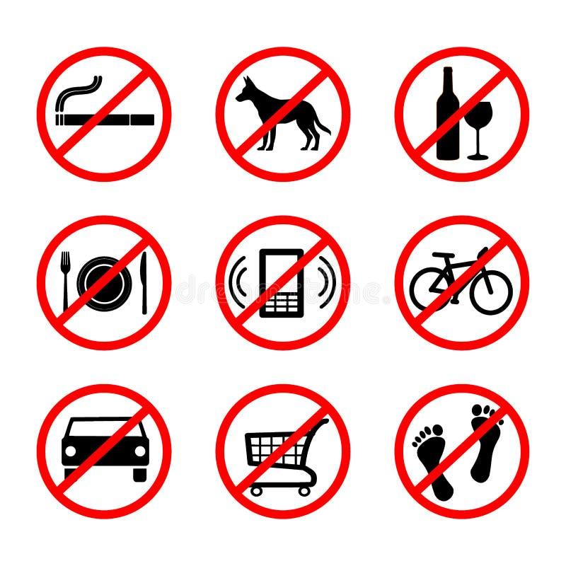 没有标志,禁止标志 向量例证
