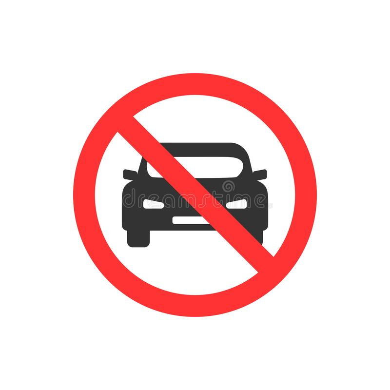 没有汽车 禁止停车,交通标志传染媒介例证 向量例证