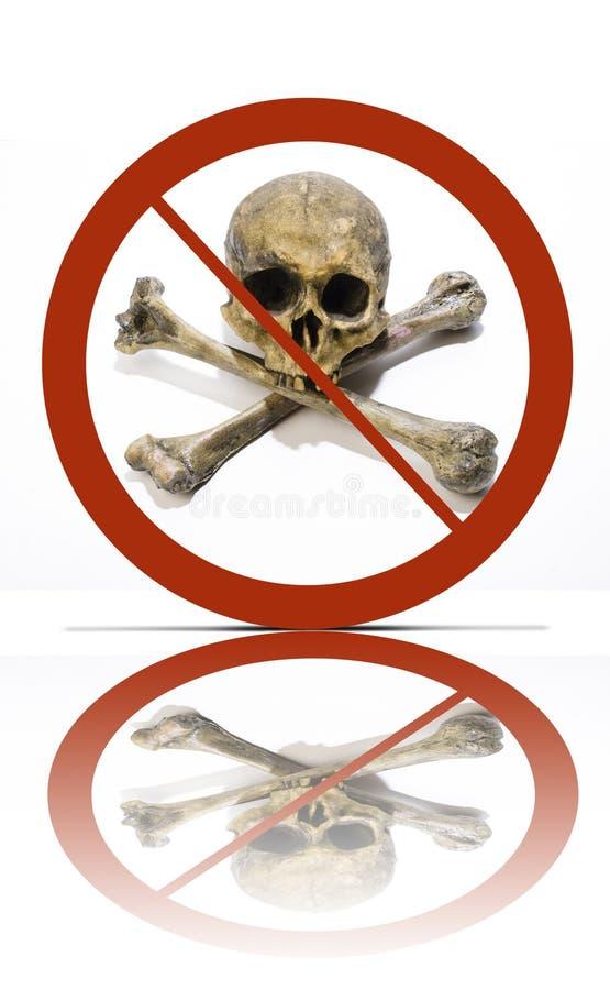 没有海盗行为符号 免版税库存图片