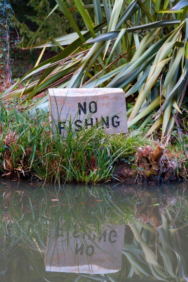 没有渔标志 库存图片