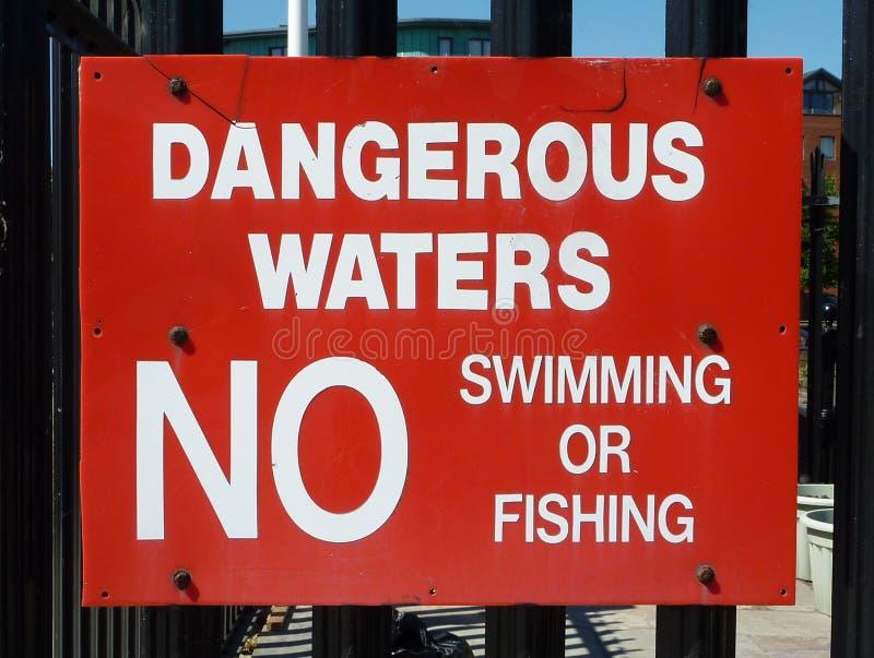 没有游泳标志 库存照片