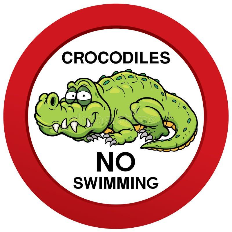 没有游泳符号 向量例证