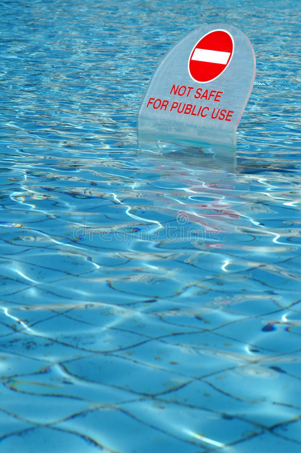 没有游泳 库存图片