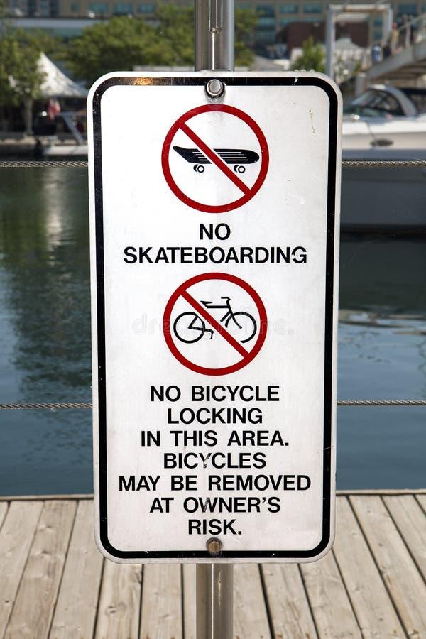 没有溜冰板运动 免版税库存照片
