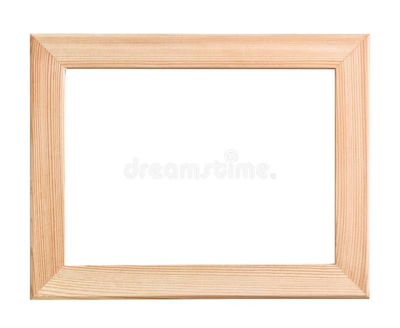 没有漆的木画框正面图  免版税库存图片