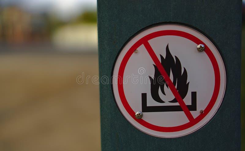 没有火标志 库存照片