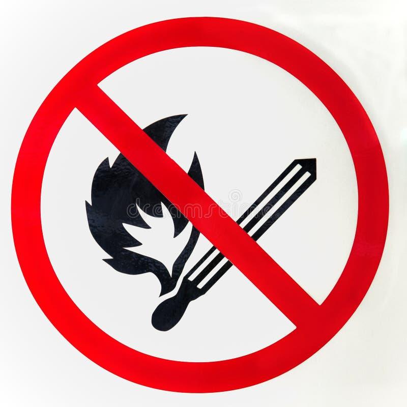 没有火标志 免版税图库摄影