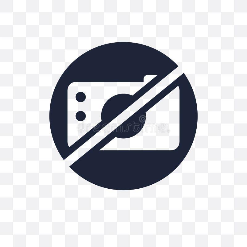 没有照片标志透明象 没有照片标志标志设计从 皇族释放例证