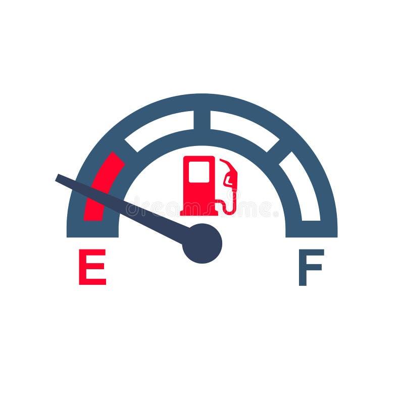 没有燃料 气体测量仪米 向量例证
