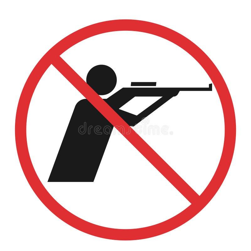 没有狩猎符号 库存例证