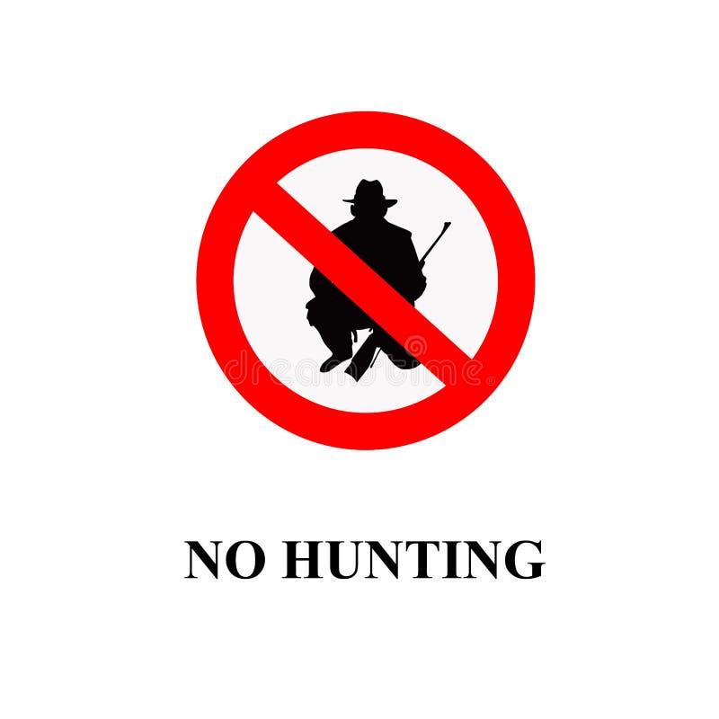 没有狩猎符号 向量例证