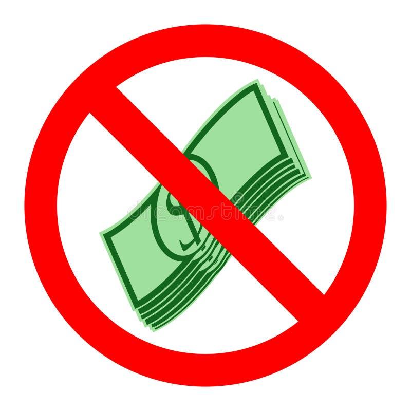 没有现金标志传染媒介例证 皇族释放例证